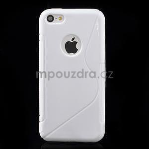 Gélové S-line puzdro pre iPhone 5C- biele - 2