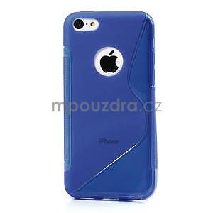 Gélové S-line puzdro pre iPhone 5C- modré - 2