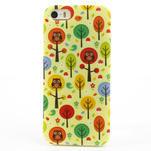 Gélové puzdro pre iPhone 5, 5s- Sovy a stromy - 2/5