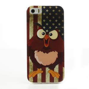 Gélové puzdro pre iPhone 5, 5s- kurací americká vlajka - 2