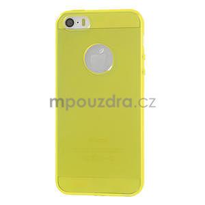 Gel-ultra slim puzdro pre iPhone 5, 5s- žlté - 2