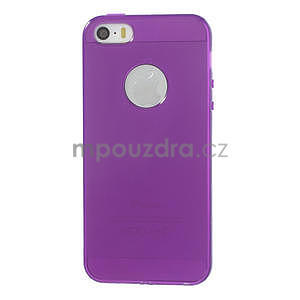 Gel-ultra slim puzdro pre iPhone 5, 5s-fialové - 2