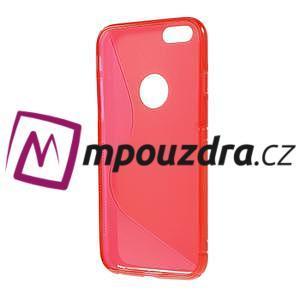 Gélové S-line puzdro na iPhone 6, 4.7 - červené - 2