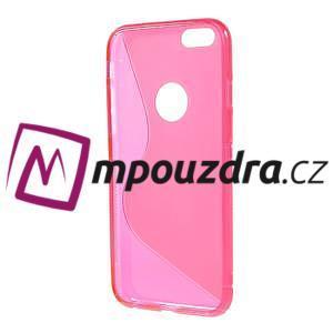 Gélové S-line puzdro na iPhone 6, 4.7 - růžové - 2