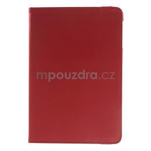 PU kožené 360° puzdro pre iPad mini- červené - 2