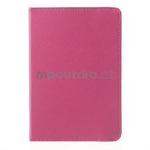 PU kožené 360° puzdro pre iPad mini- růžové - 2