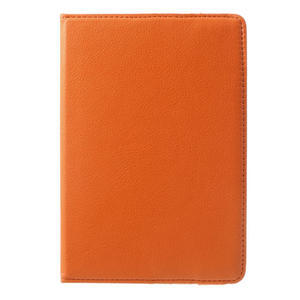 PU kožené 360° puzdro pre iPad mini- oranžové - 2