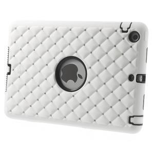 Hybridní kamínkové puzdro pre iPad mini- biele - 2