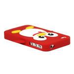silikónový Tučniak na iPhone 4 4S - červený - 2/3