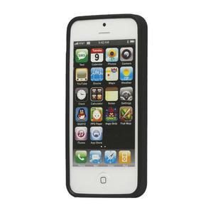 Gélové PUNTÍK puzdro pre iPhone 5, 5s- čierny - 2