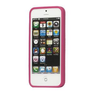 Gélové PUNTÍK puzdro pre iPhone 5, 5s- růžový - 2