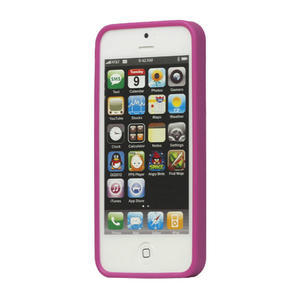Gélové PUNTÍK puzdro pre iPhone 5, 5s- fialový - 2