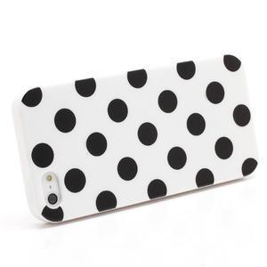 Gélové PUNTÍK puzdro pre iPhone 5, 5s- biele - 2