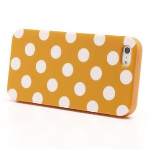 Gélové PUNTÍK puzdro pre iPhone 5, 5s- oranžové - 2