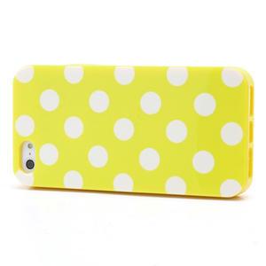 Gélové PUNTÍK puzdro pre iPhone 5, 5s- žlté - 2