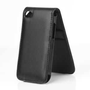 Flipové puzdro na iPod Touch 4 - čierné - 2