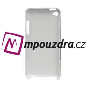 Plastové puzdro pre iPod Touch 4 - biele bodkované - 2