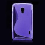 Gélové S-line puzdro pre LG Optimus L7 II P710- fialové - 2/4