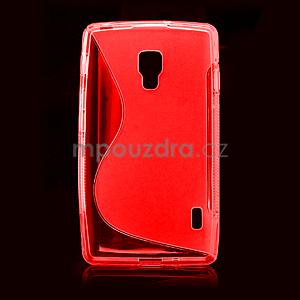Gélové S-line puzdro pre LG Optimus L7 II P710- červené - 2