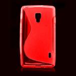 Gélové S-line puzdro pre LG Optimus L7 II P710- červené - 2/4