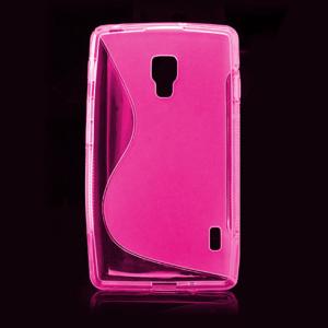 Gélové S-line puzdro pre LG Optimus L7 II P710- ružové - 2