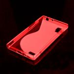 Gélové S-line puzdro pre LG Optimus L9 P760- červené - 2/2