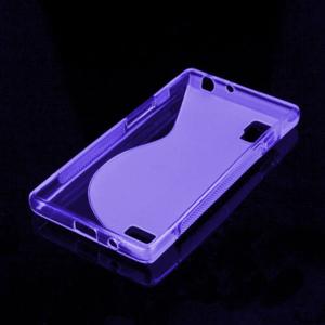 Gélové S-line puzdro pre LG Optimus L9 P760- fialové - 2