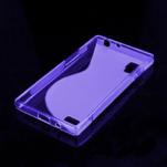 Gélové S-line puzdro pre LG Optimus L9 P760- fialové - 2/2