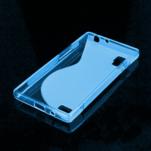 Gélové S-line puzdro pre LG Optimus L9 P760- modré - 2/2