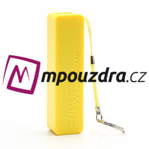 2600mAh externí baterie Power Bank - žltá - 2