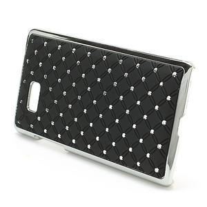 Drahokamové puzdro pre HTC Desire 600- čierné - 2