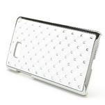 Drahokamové puzdro pre HTC Desire 600- biele - 2/4