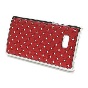 Drahokamové puzdro pre HTC Desire 600- červené - 2