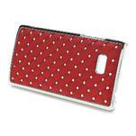 Drahokamové puzdro pre HTC Desire 600- červené - 2/5