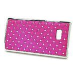 Drahokamové puzdro pre HTC Desire 600- ružové - 2/5
