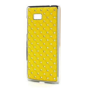 Drahokamové puzdro pre HTC Desire 600 -žlté - 2