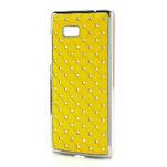 Drahokamové puzdro pre HTC Desire 600 -žlté - 2/5