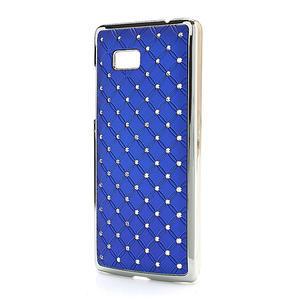 Drahokamové puzdro pre HTC Desire 600- modré - 2