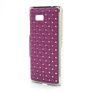 Drahokamové puzdro pre HTC Desire 600- fialové - 2