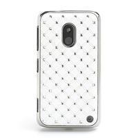 Drahokamové puzdro na Nokia Lumia 620- biele - 2/4