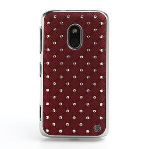 Drahokamové puzdro na Nokia Lumia 620- červené - 2