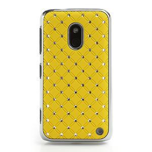 Drahokamové puzdro na Nokia Lumia 620- žlté - 2