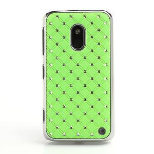 Drahokamové puzdro na Nokia Lumia 620- zelené - 2