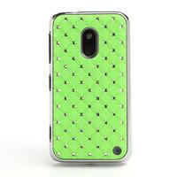 Drahokamové puzdro na Nokia Lumia 620- zelené - 2/4