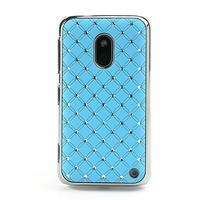 Drahokamové puzdro na Nokia Lumia 620- svetlo modré - 2/4