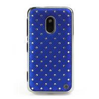 Drahokamové puzdro na Nokia Lumia 620- modré - 2/4