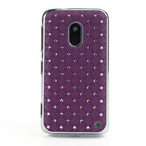 Drahokamové puzdro na Nokia Lumia 620- fialové - 2