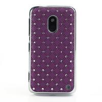 Drahokamové puzdro na Nokia Lumia 620- fialové - 2/4