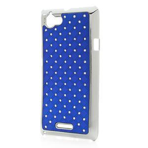 Drahokamové puzdro na Sony Xperia L C2105- modré - 2