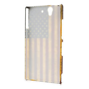 Plastové puzdro pre Sony Xperia Z L36i C6603- Americká vlajka - 2